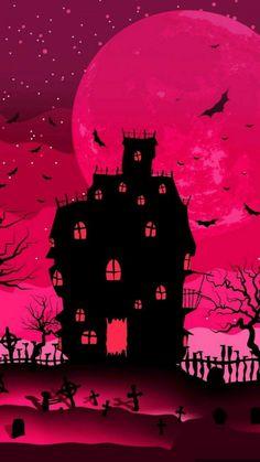 Witchy Wallpaper, Holiday Wallpaper, Halloween Wallpaper Iphone, Fall Wallpaper, Halloween Backgrounds, Screen Wallpaper, Halloween Painting, Halloween Art, Holidays Halloween