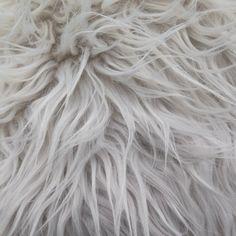 Faux Fake Fur Bleach White Mongolian 60 by ShadesofGloryFabrics