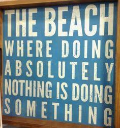 Beach saying