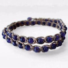 Macrame with amethyts beads bracelet