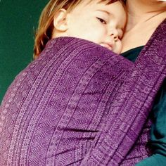 """Prima Carezza (""""Caress"""") - This beautiful purple Prima by DIDYMOS holds a touch of wool giving this wrap an extra special quality!"""