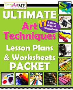 Ultimate Art Techniques Lesson Plans and Worksheets Packet - 17 Art Techniques! 93 Page PDF. Drawing Lessons, Painting Lessons, Pastel and Charcoal Lessons Drawing Lessons, Acrylic Painting Lessons, Art Lessons, Painting Videos, Acrylic Paintings, Colored Pencil Lessons, Art Handouts, Art Worksheets, High School Art