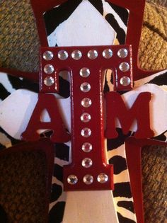 LARGE Texas Aggie Wood Cross by SignsBYDebbieHess on Etsy, $35.00