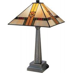 Buy the Dale Tiffany Antique Bronze Direct. Shop for the Dale Tiffany Antique Bronze Edmund Mission Single Light Tall Buffet Style Table Lamp with Tiffany Glass Shade and save. Chandeliers, Mission Table, Tiffany Table Lamps, Styling A Buffet, Stained Glass Lamps, Tiffany Glass, Light Table, Glass Shades, Art Nouveau