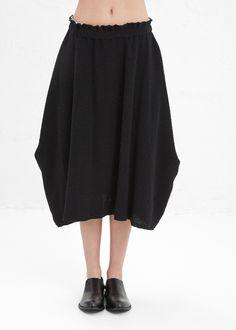 Comme des Garcons Ribbed Skirt (Black) $745