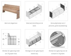 Hoe kan ik zelf een tuinbankje maken van steigerhout?