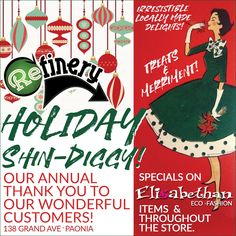 Join us December and for this years Shin Diggy! There will be specials on Elisabethan and other items throughout the store. Enjoy door prizes throughout the day.