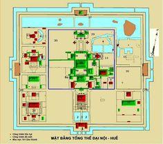 Plan de la cité impériale de Hué #Vietnam #voyage #visite #hue