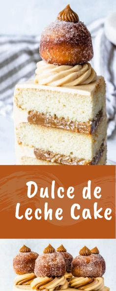 Dulce de Leche Cake - All Recipe - cakes recipes - Green Bean Delicious Cake Recipes, Best Cake Recipes, Homemade Cake Recipes, Homemade Vanilla, Yummy Cakes, Sweet Recipes, Delicious Food, Favorite Recipes, Great Desserts
