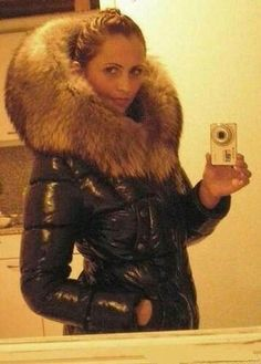 Sexy puffy jacket with massive fur hood Puffy Jacket, Fur Jacket, Moncler Jacket Women, Nylons, Down Suit, Down Parka, Winter Wear, Winter Suit, Fur Fashion