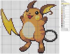 26 - Raichu by Makibird-Stitching on DeviantArt