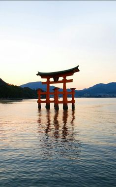 Floating Torii, Japan Mijajima! Amazing trip to the island -  especially the sunset with the Floating Torii