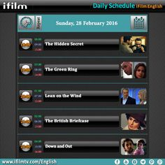 Hello everybody. Here is our today's schedule. Enjoy. #iFilm