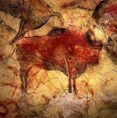 Painting from the Altamira Cave, known as the 'Sistine Chapel' of cave painting…