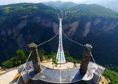 The Zhangjiajie Grand Canyon Glass Bridge by architect Haim Dotan
