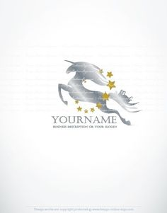Exclusive Design: Stars unicorn Logo + Compatible FREE Business ...