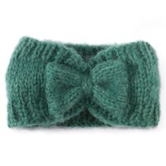 Pretty Bow Heaband in Aqua for Toddlers. must try to recreate in knitting to do list! Knitting For Kids, Knitting Yarn, Knitting Projects, Baby Knitting, Knitted Headband, Knitted Hats, Knit Or Crochet, Crochet Hats, Knitting Patterns