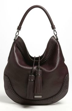 Gorgeous leather hobo bag from Burberry. : Gorgeous leather hobo bag from Burberry. Burberry Handbags, Hobo Handbags, Prada Handbags, Purses And Handbags, Hobo Purses, Hobo Bags, Burberry Bags, Leather Handbags, Big Purses