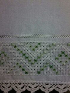 This post was discovered by Ca Hardanger Embroidery, Learn Embroidery, Embroidery Fashion, Ribbon Embroidery, Embroidery Designs, Drawn Thread, Thread Art, Swedish Weaving, Cross Stitch Borders