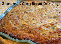 grandma's corn-bread dressing ~ Easy Recipes