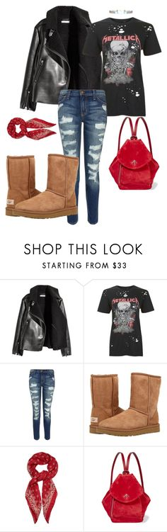 """""""Untitled #96"""" by stylesbylex on Polyvore featuring Topshop, Current/Elliott, UGG Australia, Yves Saint Laurent and MANU Atelier"""