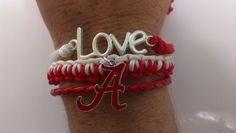 Alabama Crimson Tide ,3 in 1 bracelet ! by Bmariescreations on Etsy