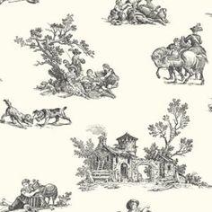 Toile Wallpaper - Black Toile Wallpaper, Diy, Crafts, House, Master Bedroom, Black, Wallpapers, Ideas, Master Suite