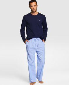 Camiseta de pijama de hombre Polo Ralph Lauren azul de manga larga · Polo Ralph Lauren · Moda · El Corte Inglés