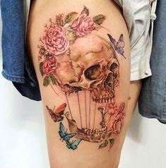 Skull by @amberrobyntattoos. - Create