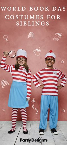 If you've got two kids who are dressing up for World Book Day 2018, why not look for a group costume? Check out our World Book Day costume ideas for siblings for inspiration! And pick up all the costumes featured at partydelights.co.uk.