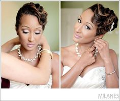 2014 Wedding Hairstyles For Black and African American Women 3 Wedding Hairstyles 2016, Cool Hairstyles, Bridal Hairstyles, Hairstyles Pictures, Natural Wedding Makeup, Wedding Hair And Makeup, Hair Makeup, Makeup Tips, Bridal Makeup