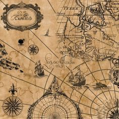 pirate map--great for tattoo