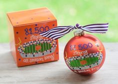 81,500 Strong Clemson Ornament | underthecarolinamoon.com #cotoncolor #cotoncolorschristmas #cotoncolorsornaments #utcm #underthecarolinamoon #christmasornament #clemsonornament #clemson