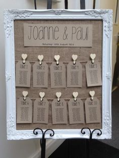 Rustic/Antique Framed Vintage/Shabby Chic Wedding Table Seating Plan in Home, Furniture & DIY, Wedding Supplies, Other Wedding Supplies | eBay