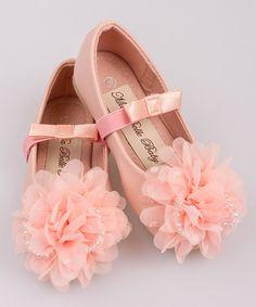 Look at this #zulilyfind! Pink Tulle Flower Ballet Flat #zulilyfinds