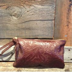 Brown Western Clutch by #jacksonhole artist Oleta Corry available at Wilson Formal.com for $70.00.
