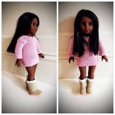 Crochet Dress For 18 inches Doll  Video Tutorial By AnnooCrochet Designs