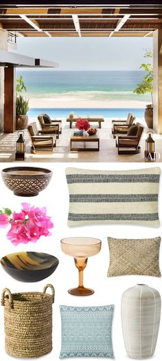 CHIC COASTAL LIVING: GET THE LOOK // CABO SAN LUCAS BEACH HOUSE