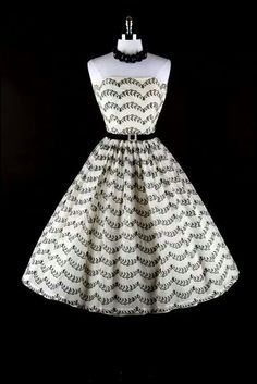 black and white dress Vintage Inspired Fashion cfc1a37f5