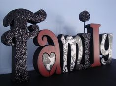 Family Wood Letters by thepatternbag on Etsy, $39.99