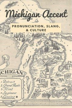 The Michigan Accent & Slang Words. Groups of people from every US state and, really, every place in the world have a unique accent and Michigan is no different! Learn Michigan-isms here! Michigan Quotes, Map Of Michigan, Flint Michigan, Michigan Travel, Florida Travel, Michigan Accent, Lake Quotes, Fun Quotes, Michigan Crafts