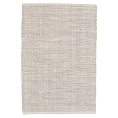Mixed yarns of grey and ivory give this woven cotton rug its unique marled look. Use this area rug as a durable, soft foundation in both neutral and modern settings.