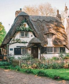 One of my favourite villages in England, this fairytale cottage is located in Houghton, Cambridgeshire Storybook Homes, Storybook Cottage, Cute Cottage, Cottage In The Woods, Into The Woods, Cottages Anglais, Fairytale Cottage, Romantic Cottage, Cute House