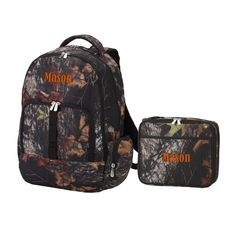 Personalized Matching Boys Camo Backpack & Lunch Bag
