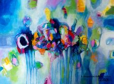 """In The Moment. 24"""" X 18"""". http://stephanieestrin.com #abstract #art"""