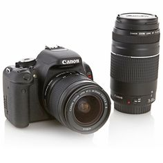 Canon EOS Rebel T3i 18MP DSLR Camera with 18-55mm and 75-300mm Lenses, Carry Case and 8GB SDHC Card at HSN.com.