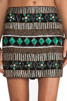 Yumi Kim | sparkle emerald pattern skirt