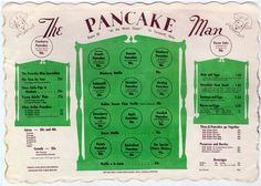 The Pancake Man, South Yarmouth, MA - 1961 Menu Places To Eat, Places To Travel, Pancake Man, Those Were The Days, Cape Cod, Pretty Pictures, Vacation Ideas, New England, Islands