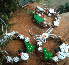 Traditional Mini Grapevine Wreaths