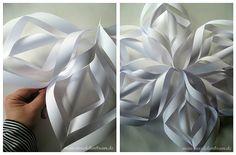 DIY papier-schneeflocke  DIY paper snowflake